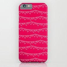 Red & White Heart Garland iPhone 6s Slim Case