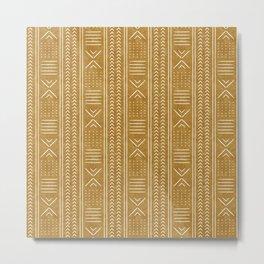 mustard mud cloth - arrow cross Metal Print