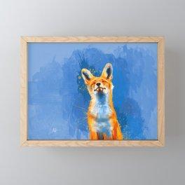 Happy Fox, inspirational animal art Framed Mini Art Print