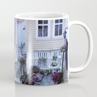 norway Mugs featuring Bergen - Norway  by Cynthia del Rio