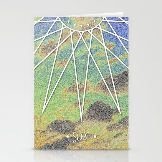 Solarized Burst Stationery Cards