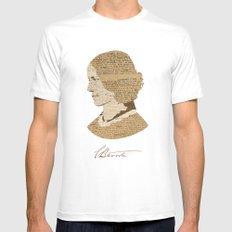 Charlotte Bronte  MEDIUM Mens Fitted Tee White