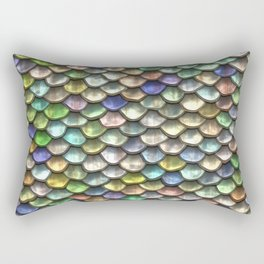 Iridescent Dragon Scales Rectangular Pillow