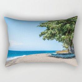 A Bend in the Beach Rectangular Pillow