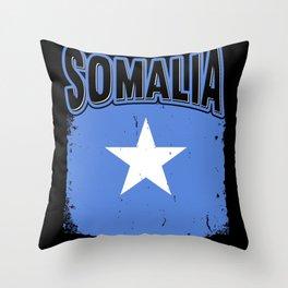 Somalian Somalia Flag Gift Idea Throw Pillow