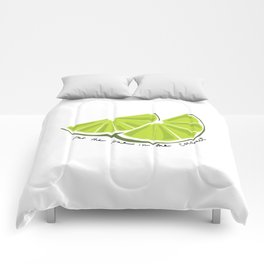Lime in the Coconut Comforters