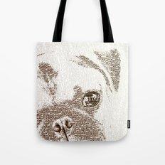 The Intellectual Pug Tote Bag