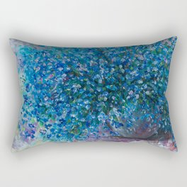 Bouquet Of Forget Me Nots by Lena Owens Rectangular Pillow