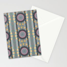 Boho Multi Mandala Goth Lace Elegant Thread Texture Print Stationery Cards
