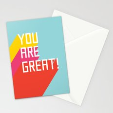 You Are Great! Stationery Cards