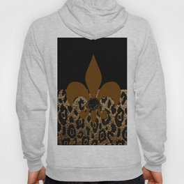 F D L Exotic Animal Print Hoody