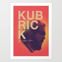 kubrick Art Prints featuring Stanley Kubrick by Howling Youth