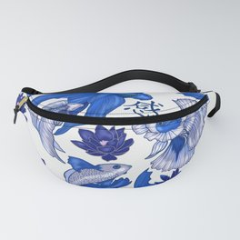 Chinoiserie Fighting Fish Fanny Pack
