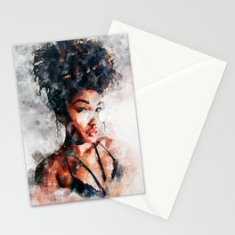 Natural Hair in Shades Stationery Cards