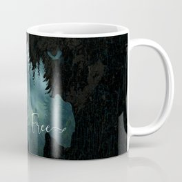 Wild and Free grizzly bear typography Coffee Mug