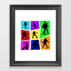 The King Color Tile Silhouette Framed Art Print