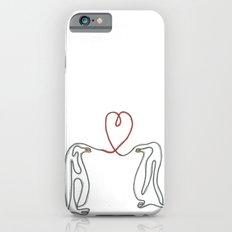 Penguins in love single line drawing Slim Case iPhone 6s