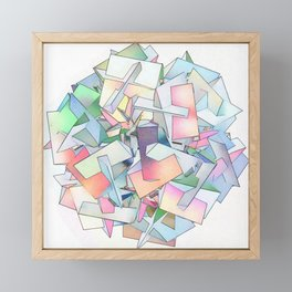 Intersection of Form and Color Framed Mini Art Print
