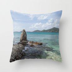 Caribbean Beach Photograph Throw Pillow