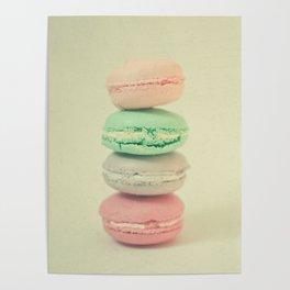 Four Macarons Poster