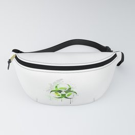 Symbol of Biological Danger Drawn with Paint Fanny Pack