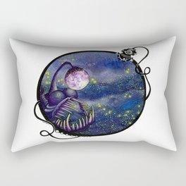 Meegan and the Moon Rectangular Pillow