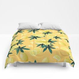 Lemon Twist Vibes #3 #tropical #fruit #decor #art #society6 Comforters
