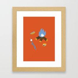 Campfire Framed Art Print