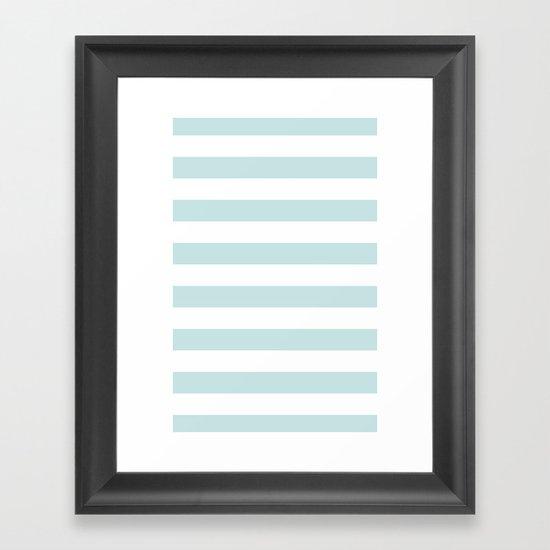 Ocean Blue Nautical Stripes Artsy Vintage Framed Art Print
