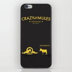 Crazy old Mule / Metro Goldwyn Mule iPhone & iPod Skin