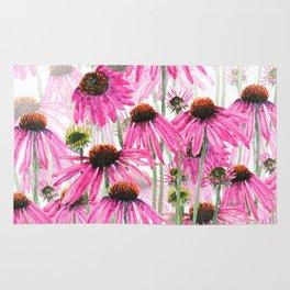 pink coneflower field Rug