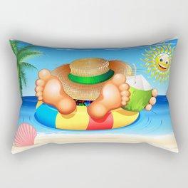 Summer Relax on the Sea Rectangular Pillow