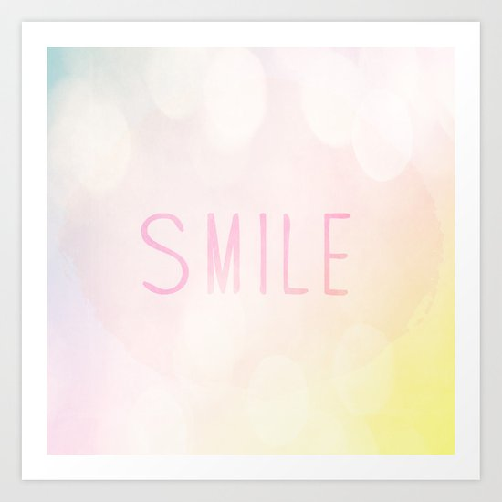 Smile a lot Art Print