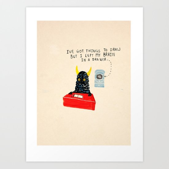Silly Rhyme doodles  Art Print