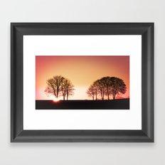 powerful light of nature Framed Art Print