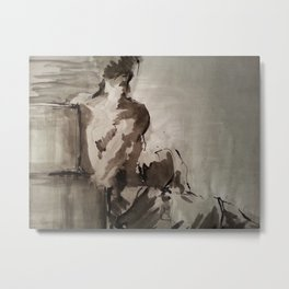 Contemplatory Metal Print