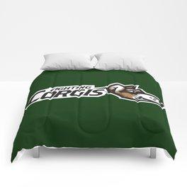 Fighting Corgis Full Logo Comforters