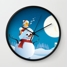 Join the spirit of Christmas Wall Clock