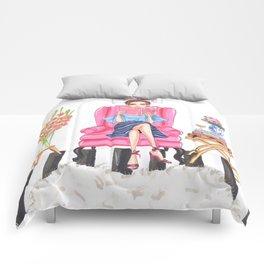 Sofa chic fashion illustration Comforters