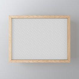 Aspen wood fiber pattern light microscopy Framed Mini Art Print