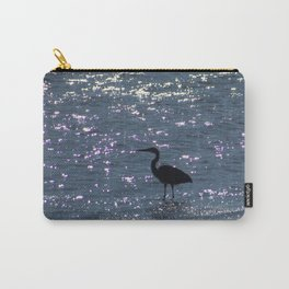 Egret Heron Silhouette Carry-All Pouch