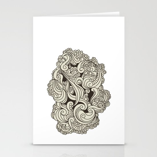 GREY BLOW Stationery Cards
