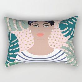The Tropical Girl Rectangular Pillow