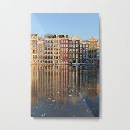 Facades Dutch canal houses Amsterdam Netherlands photo Fine Art Print Metal Print