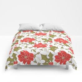 Poinsettia, Christmas Comforters
