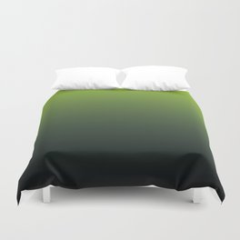 Ombre | Lime Green and Charcoal Grey Duvet Cover