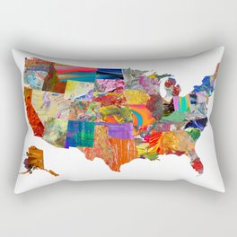 USA Map Rectangular Pillow