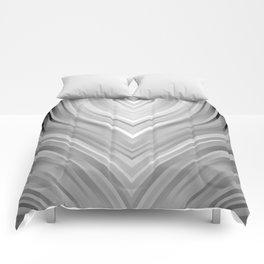 stripes wave pattern 3 bwgr Comforters