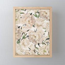 Peonies Pattern Framed Mini Art Print