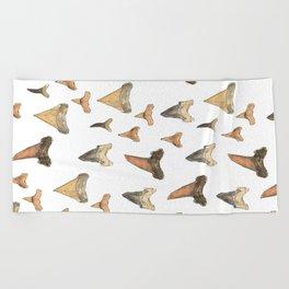 Shark Teeth Study Beach Towel